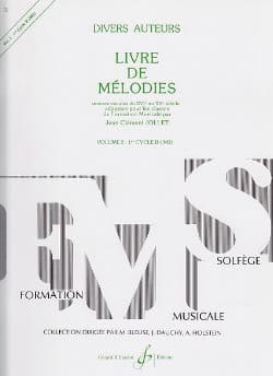 Jean-Clément Jollet - Livre de Mélodies Volume 2 - 1er Cycle B - Sheet Music - di-arezzo.co.uk