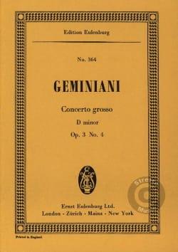 Concerto grosso d-moll Francesco S Geminiani Partition laflutedepan