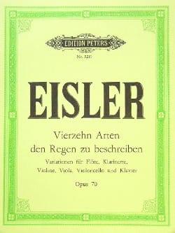Hanns Eisler - 14 Arten den Regen zu Beschreiben op. 70 - Sheet Music - di-arezzo.co.uk
