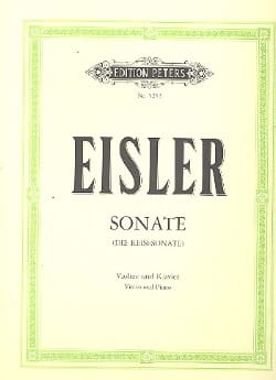 Hanns Eisler - Sonate (Reisesonate) - Partition - di-arezzo.fr