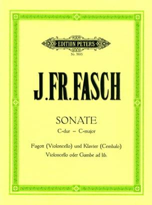 Johann Friedrich Fasch - C-Dur Sonata - Fagott Violoncello Klavier Cembalo - Sheet Music - di-arezzo.com