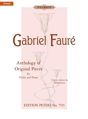 Anthology Of Original Pieces FAURÉ Partition Violon - laflutedepan