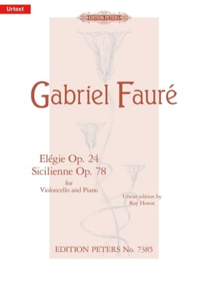 Gabriel Fauré - Elegie Op. 24 / Sicilian Op. 78 - Sheet Music - di-arezzo.co.uk