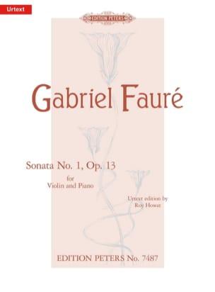 Gabriel Fauré - Sonate n° 1 op. 13 - Partition - di-arezzo.fr