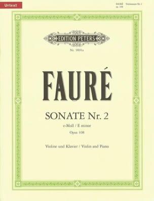 Sonate n°2 en Mi Min. Op. 108 - Gabriel Fauré - laflutedepan.com