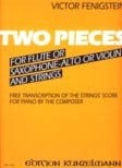 Victor Fenigstein - 2 Pieces – Flute (Saxo-alto or violin) piano - Partition - di-arezzo.fr