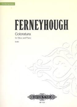 Coloratura Brian Ferneyhough Partition Hautbois - laflutedepan