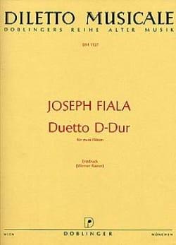 Duetto D-Dur – 2 Flöten - Joseph Fiala - Partition - laflutedepan.com