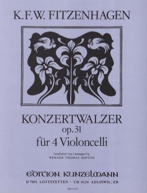 Wilhelm K. F. Fitzenhagen - Konzertwalzer op. 31 - Partition - di-arezzo.fr