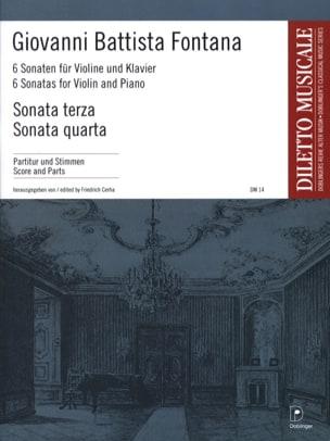 Giovanni Battista Fontana - 6 Sonaten (n° 3-4) - Partition - di-arezzo.fr