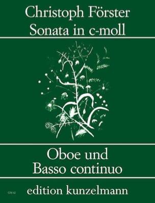 Christoph Förster - Sonate c-moll – Oboe und Bc - Partition - di-arezzo.fr