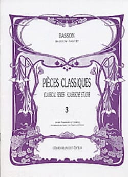 Patrice Sciortino - Classic Pieces - Volume 3 - Bassoon - Sheet Music - di-arezzo.co.uk