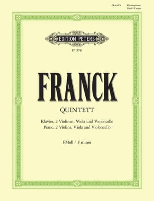 César Franck - Quintet with piano in F minor - instrumental parts - Partition - di-arezzo.co.uk