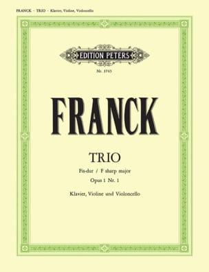 César Franck - Trio Fis-Dur op. 1 n° 1 -Stimmen - Partition - di-arezzo.fr