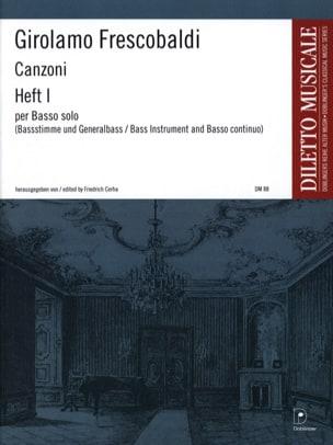 Girolamo Frescobaldi - Canzoni for Basso Solo, Heft 1 - Sheet Music - di-arezzo.co.uk