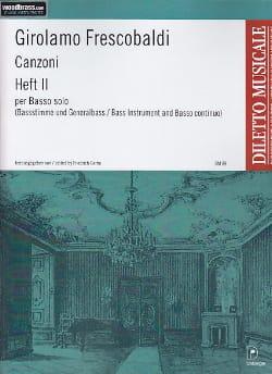 Canzoni per Basso Solo, Heft 2 FRESCOBALDI Partition laflutedepan