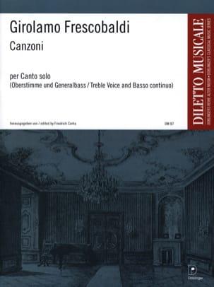 Canzoni Per Canto Solo FRESCOBALDI Partition Violon - laflutedepan