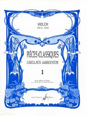 Pièces Classiques Volume 1 - Violon Patrice Sciortino laflutedepan