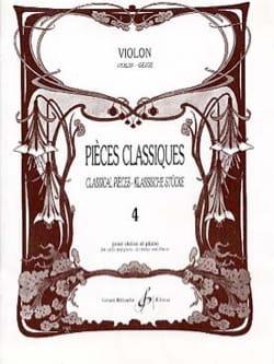 Pièces Classiques Volume 4 Partition Violon - laflutedepan