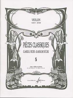 Pièces Classiques Volume 5 - Violon Patrice Sciortino laflutedepan