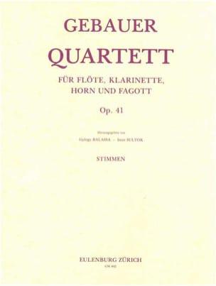 Quartett op. 41 - Flöte Klarinette Horn Fagott - Stimmen - laflutedepan.com