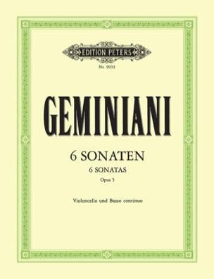 Francesco Saverio Geminiani - 6 Sonatas op. 5 - Sheet Music - di-arezzo.co.uk