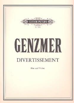 Harald Genzmer - Divertissement - Flöten Violine - Partition - di-arezzo.fr
