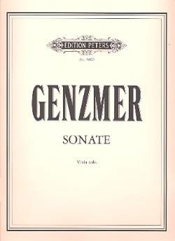 Sonate für Viola solo - Harald Genzmer - Partition - laflutedepan.com