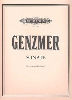 Harald Genzmer - Sonate - Klarinette Klavier - Partition - di-arezzo.fr