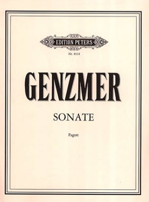 Sonate Harald Genzmer Partition Basson - laflutedepan