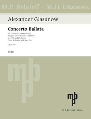Concerto Ballata op. 108 Alexandre Glazounov Partition laflutedepan