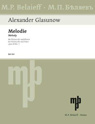 Mélodie op. 20 n° 1 Alexandre Glazounov Partition laflutedepan
