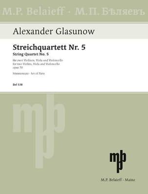 Alexandre Glazounov - Streichquartett Nr. 5 op. 70 - Stimmen - Sheet Music - di-arezzo.co.uk