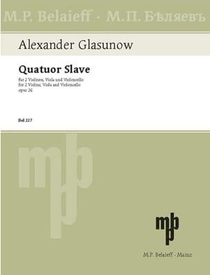 Alexandre Glazounov - Streichquartett Nr. 3: Slavic Quartet op. 26 - Stimmen - Sheet Music - di-arezzo.co.uk