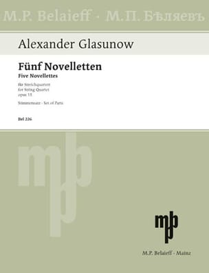 Alexandre Glazounov - 5 Novelletten op. 15 –Stimmen - Partition - di-arezzo.fr