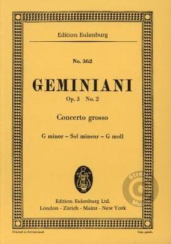 Concerto grosso g-moll Francesco S Geminiani Partition laflutedepan