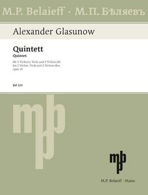 Alexandre Glazounov - Streichquintett op. 39 - Stimmen - Sheet Music - di-arezzo.com