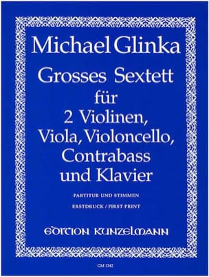 Michail Glinka - Large Sextet in Eb Shift. - Sheet Music - di-arezzo.co.uk