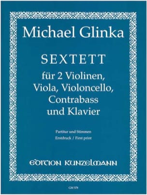 Michail Glinka - Sextuor - Partitur Stimmen - Sheet Music - di-arezzo.co.uk
