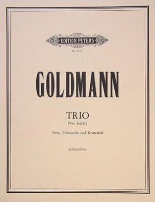 Friedrich Goldmann - Trio - Viola Cello Kontrabass - Spielpartitur - Sheet Music - di-arezzo.com