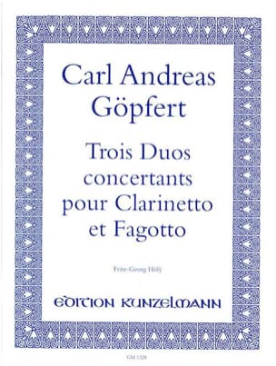 Carl Andreas Göpfert - 3 Duos concertants - Partition - di-arezzo.fr