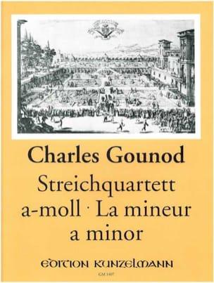 Quatuor à cordes en la mineur -Stimmen GOUNOD Partition laflutedepan