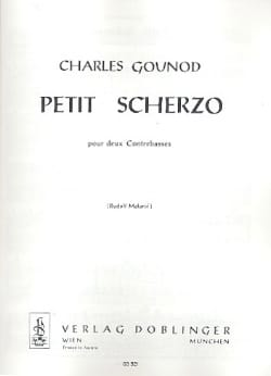 Petit scherzo GOUNOD Partition Contrebasse - laflutedepan