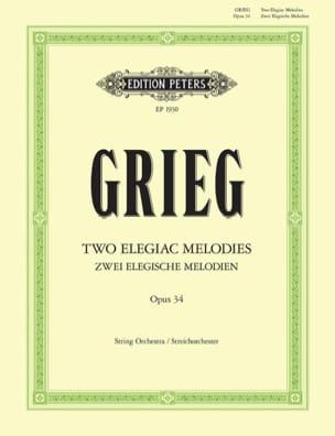 Edvard Grieg - 2 Elegische Melodien op. 34 - Partitur - Sheet Music - di-arezzo.com
