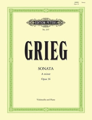 Edvard Grieg - Sonata in a minor op。 36 - 楽譜 - di-arezzo.jp
