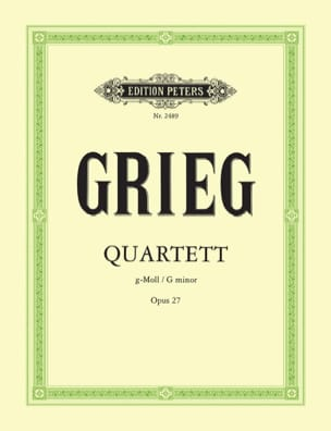 Edvard Grieg - Streichquartett g-moll op. 27 - Stimmen - Sheet Music - di-arezzo.co.uk