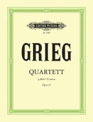 Edvard Grieg - Streichquartett g-moll op. 27 -Stimmen - Partition - di-arezzo.fr