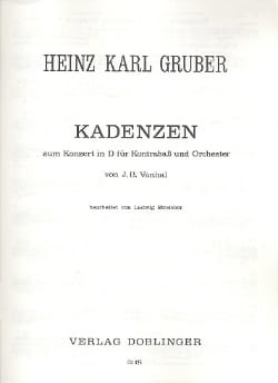 Heinz Karl Gruber - Cadences for the Concerto for double bass in d maj. from Vanhal - Sheet Music - di-arezzo.co.uk