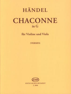 Georg Friedrich Haendel - Chaconne in G - VIolin Viola - Partition - di-arezzo.fr