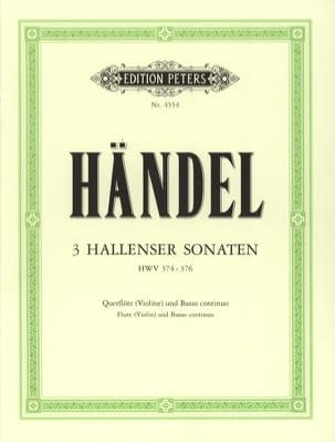 Georg Friedrich Haendel - 3 Hallenser Sonaten – Flöte (Violine) u. Bc - Partition - di-arezzo.fr